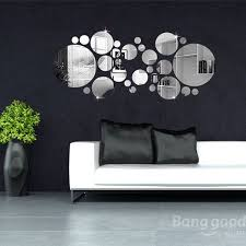 3d circle mirror wall stickers acrylic
