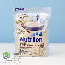 Bột ăn dặm Nutrilon Nga 6M 180g – Vị gạo, yến mạch, kiều mạch ...