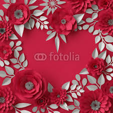 3d ilration decorative red paper