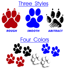 Paw Print Decals In Vinyl Order Service Or Therapy Paw Print Decals For Cars Online At Active Dogs