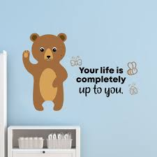 Zoomie Kids Up To You Bear Vinyl Wall Decal Wayfair