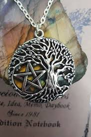 wiccan jewelry tree of life pentacle