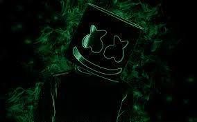 تحميل خلفيات Marshmello أمريكا دي جي الفنون الإبداعية الأخضر