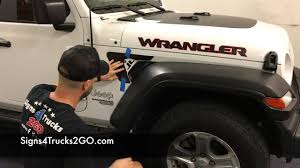 Decal Installation Jeep Jl Wrangler Fender Vent Decal Installation Signs4trucks2go Video N19 Youtube
