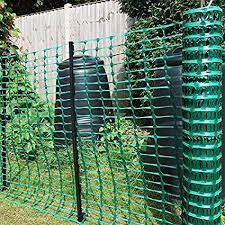 Amazon Com Houseables Temporary Fencing Mesh Snow Fence Plastic Safety Garden Netting Single Green 4 X 100 Feet Fence Plants Green Fence Garden Netting