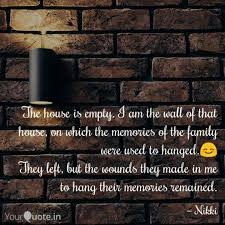the house is empty i am quotes writings by nikhila peri