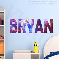 Custom Name Wall Decal Galaxy Wall Art Personalized Name Wall Sticker Kids Room Decor Gn1 Oute Kids Room Wall Stickers Name Wall Stickers Personalized Wall Art