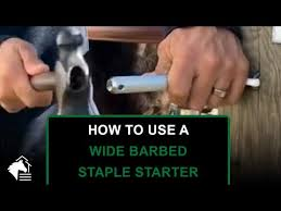 How To Use A Wide Barbed Staple Starter Saves Your Hands When Installing Barbed Staples Youtube Fle Barbed Wire Art Barbed Wire Fencing Wire Fence