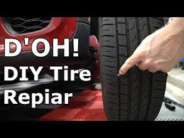 to repair a tire puncture from a nail