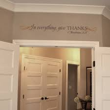 In Everything Give Thanks Wall Decal Trading Phrases