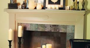dream candles in fireplace ideas photo