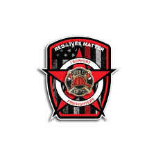 Firefighter Reflective Car Sticker Decal Pluto99