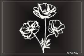 California Poppy Flower Decal