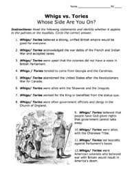 Loyalists V Patriots Worksheets Teaching Resources Tpt