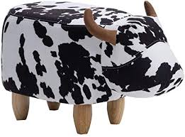 Amazon Com Ottomans Animal Footstool Animal Cow Footstool Animal Foot Stools For Kids Sofa Stool Child Shoe Bench Poufs For Living Room Storage Color Black White Size 4030cm Furniture Decor