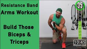 resistance band arm workout build