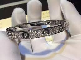 cartier love bracelet diamond paved