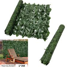 Expanding 1 3m Artificial Fake Lvy Leaf Wall Fence Green Garden Screen Hedge Lazada Ph