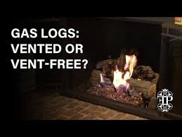 gas logs vented or vent free how to