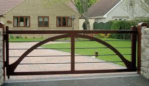 Winchester Wooden Driveway Gate Single Bespoke Driveway Gates And Garage Doors
