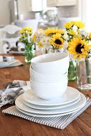 white porcelain dishes farmhouse style