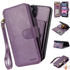 cornmi iphone 11 wallet case with wrist