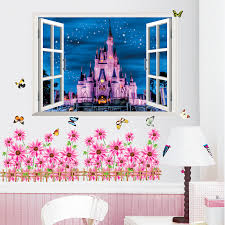 Wall Stickers Home Decor Castle Tower Sticker For Kids Room Bedroom Decoration False Window Poster Mural Wallpaper Wall Decals Wall Vinyl Stickers Wall Vinyls From Topboom 1 58 Dhgate Com