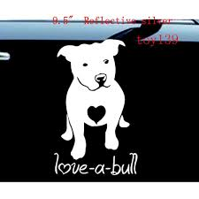 2020 Pitbull Love A Bull Truck Laptop Rescue Dog Heart Car Wall Decal Vinyl Sticker Reflective Silver From Mysticker 3 02 Dhgate Com