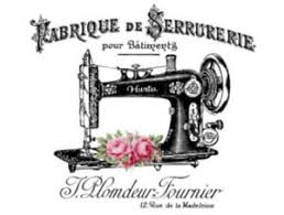 Vintage Image French Sewing Machine Furniture Transfers Decoupage Decal Mis661 Ebay