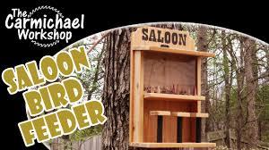 Make A Saloon Bird Feeder Easy Diy Weekend Woodworking Project Youtube