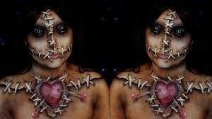 voodoo doll halloween makeup tutorial