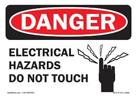 Osha Danger Sign Electrical Hazards Do Not Touch Vinyl Decal Protect Your Business Walmart Com Walmart Com