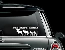 Moose Family Car Decal Sticker Custom Personalized Car Truck Decals Stickers Moonnepal Com