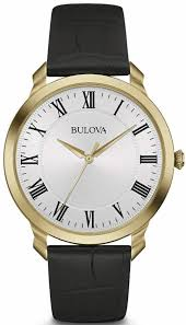 gold leather watch 97a123