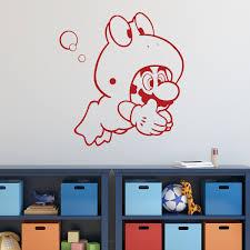 Super Mario Wall Decor Mario Frog Suit Vinyl Wall Decal For Boys Room Customvinyldecor Com