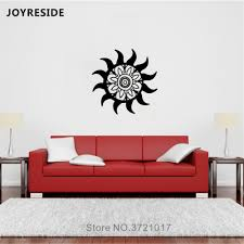 Joyreside Mandala Flower Sun Wall Decal Religious Wall Sticker Mandala Sun Vinyl Decor Home Rooms Decor Interior Design A1092 Wall Stickers Aliexpress