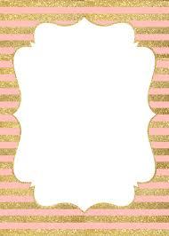 Pink Gold Invitation Stripe Jpg 750 1 050 Pixeles Invitaciones