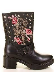 guess botas negras con tachuelas zena