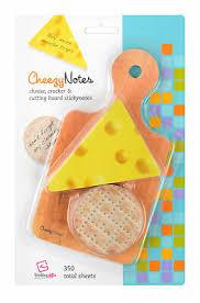 novelty cheese board stationary notepad