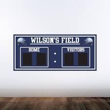 Amazon Com Deluxe Family Chalkboard Scoreboard Wall Decal Design One Custom Name Available Handmade