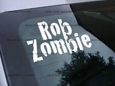 Rob Zombie Decal Ebay