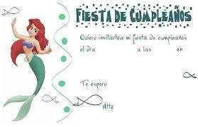 Invitacion De Cumpleanos De La Sirenita Cumpleanos De Sirena
