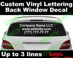 Custom Reflective Vinyl Decal Car Truck Back Window Windshield Etsy