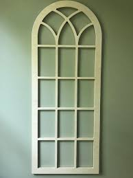 wall decor faux window frame arched