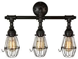 retro 3 bulb vanity light in matte