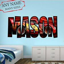 Disney Cars Piston Cup Wall Stickers Mater 19 Decals Lightning Mcqueen Ebay