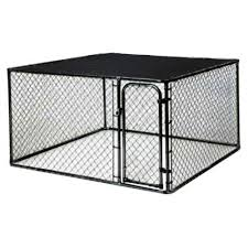 Kennelmaster 10 Ft X 5 Ft X 6 Ft Black Powder Coated Chain Link Boxed Kennel Kit K6510clbl C Pups Chain Link Dog Kennel Puppy Care Dogs