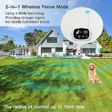 Wireless Dog Fence Pet Containment System Up To 1640 Feet Control Range Ebay