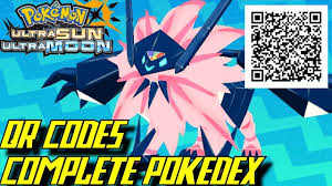 Pokémon Ultra Sun and Ultra Moon - Complete Pokédex (ALL QR Codes &  Shinies) - YouTube | Pokemon go cheats, Pokemon moon qr codes, Pokemon