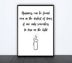 albus dumbledore quote print harry potter poster geek home decor